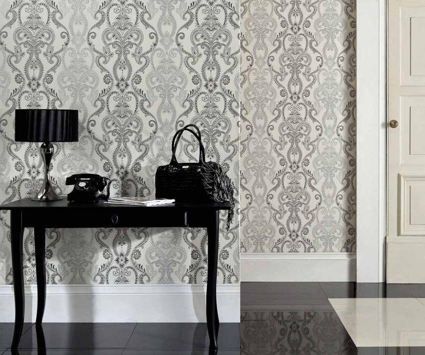 Archiv Papel pintado Kesara gris negruzco Ver habitación