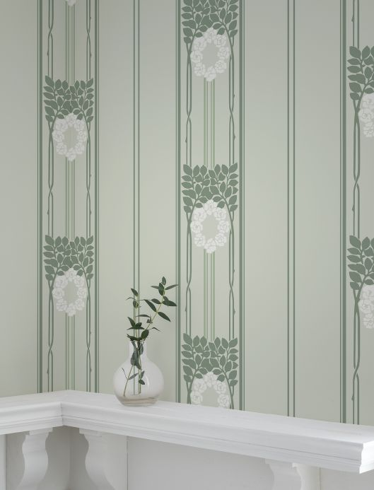 Art Nouveau Wallpaper Wallpaper Imke white Room View