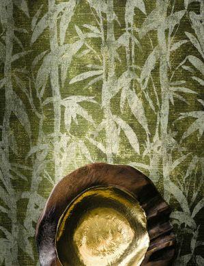 Wallpaper Kenai fern green Room View