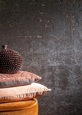 Papel de parede Natural Cork 06 cinza negrusco Raumansicht
