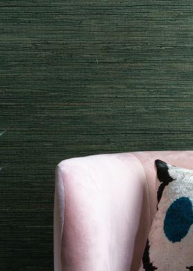 Papier peint Grasscloth on Roll 01 tons de vert Raumansicht
