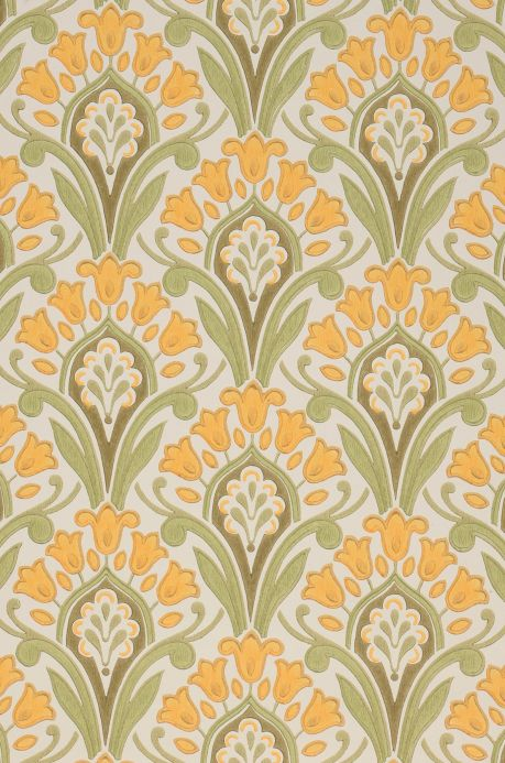 Classic wallpaper Wallpaper Florence maize yellow A4 Detail