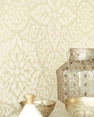 Papel de parede Mirabel marfim claro Ver quarto