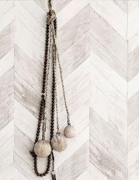 Papel de parede Wood Herringbone cinza bege