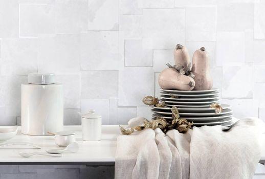 Papel pintado Spry blanco grisáceo Ver habitación
