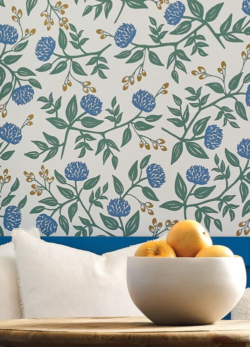 Floral Wallpaper Wallpaper Peonies white Room View