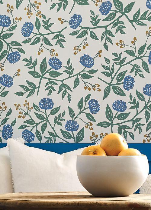 Papel de parede floral Papel de parede Peonies branco Ver ambiente