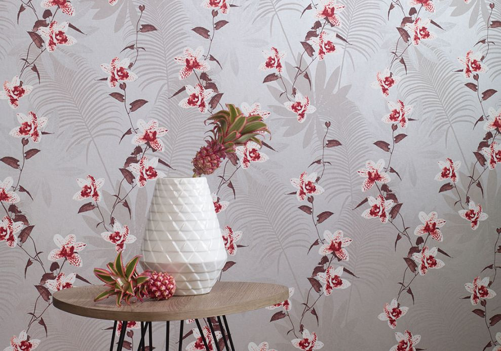 Archiv Wallpaper Josette ruby red Room View