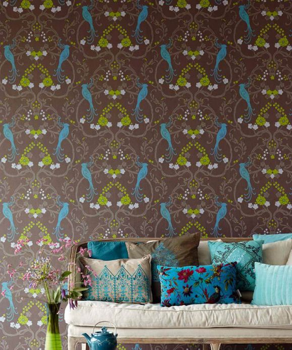 Archiv Wallpaper Bellona turquoise Room View