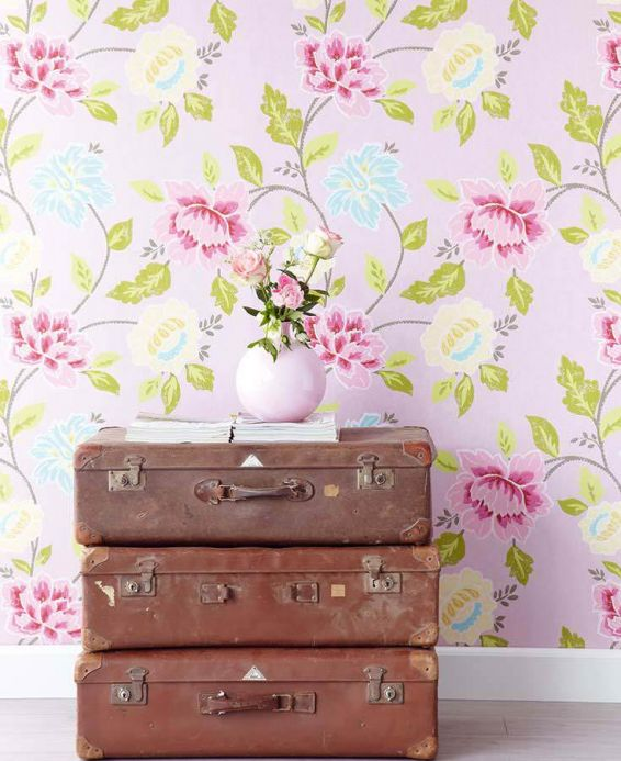 Archiv Wallpaper Forseti rose Room View