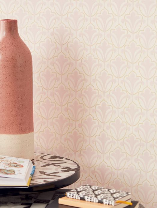 Art Nouveau Wallpaper Wallpaper Cassia pale pink Room View
