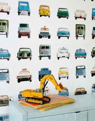 Carta da parati Cars blu Visuale camera