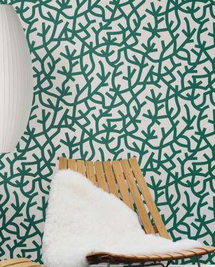 Papel de parede Oceane verde pinho Ver quarto