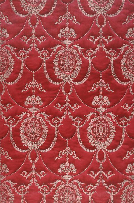 Papel de parede damasco Papel de parede Rabia vermelho púrpura Largura do rolo