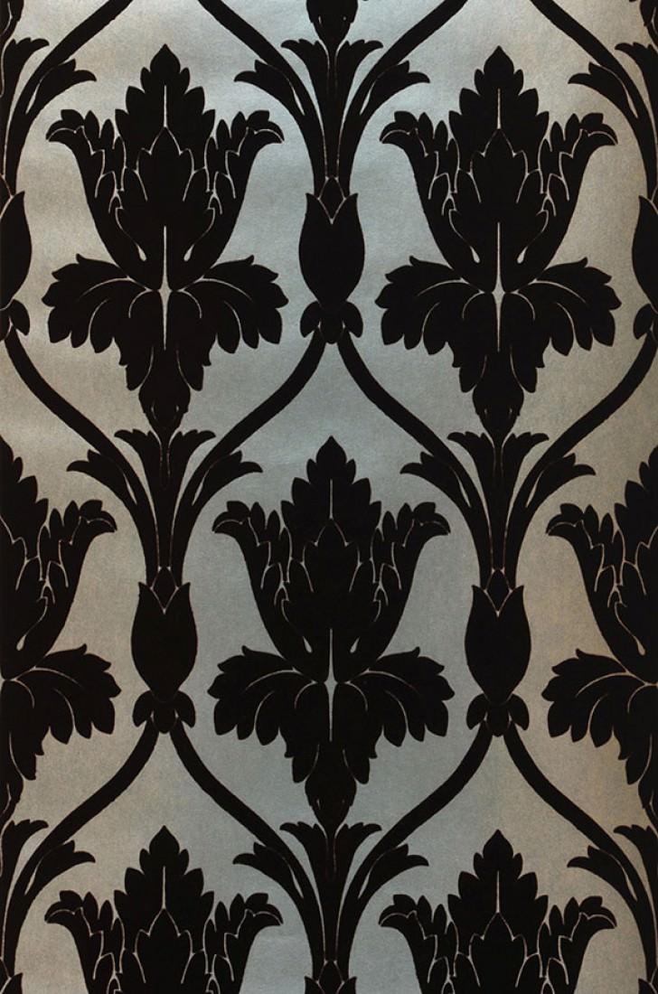 tapete sherlock pastellt rkis perlglanz perlbeige dunkelschokoladenbraun tapeten der 70er. Black Bedroom Furniture Sets. Home Design Ideas