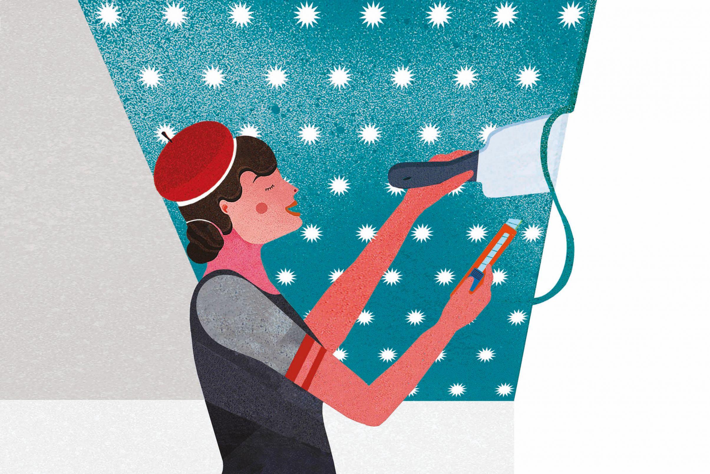 Comment-tapisser-le-plafond-Couper-les-excedents