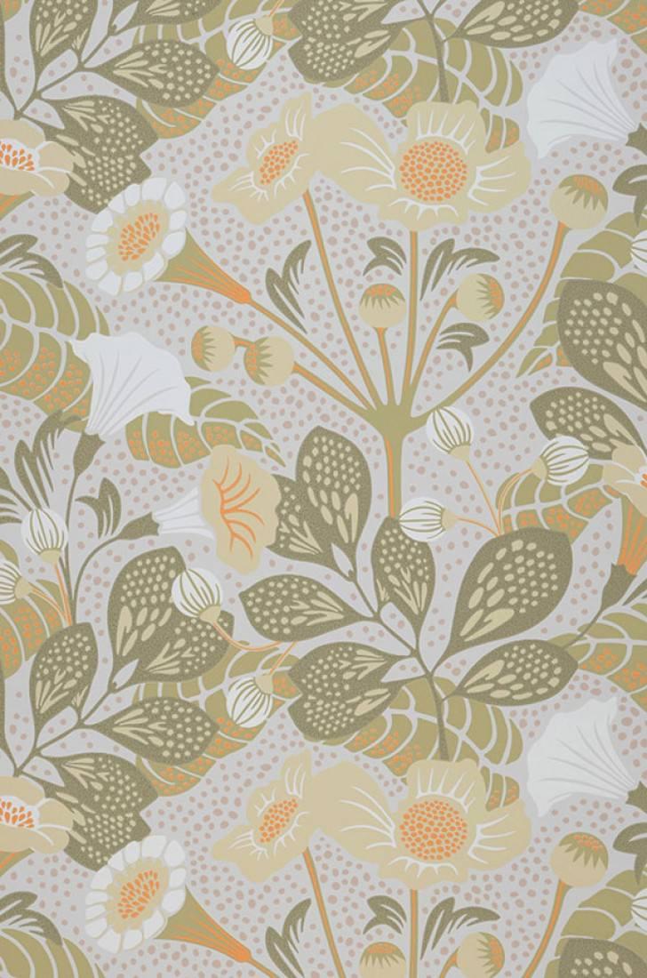 Papel pintado ancasi blanco gris ceo marfil amarillo - Papeles pintados de los 70 ...