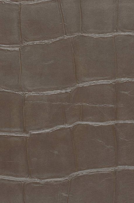 Industrial Style Wallpaper Wallpaper Croco 07 brown grey A4 Detail