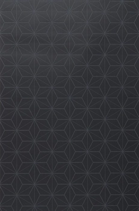 Wallpaper Hemsut Matt Geometrical elements Black Dark grey