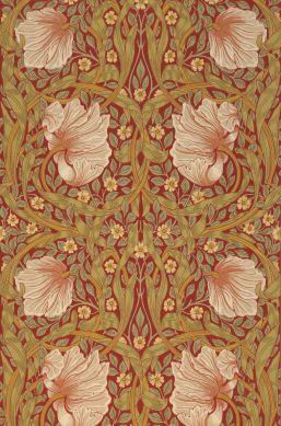 Wallpaper Despina crimson red Bahnbreite