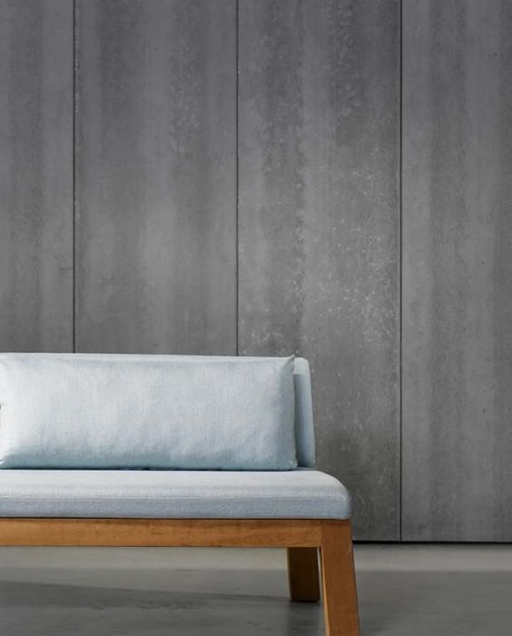 Wallpaper Concrete 04 Matt Shabby chic Imitation beton Grey tones