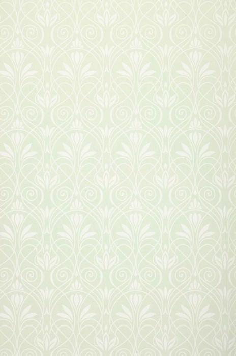 Papel de parede Lakshmi Mate Damasco histórico Casca de ovo Branco