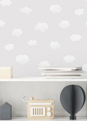 Papel de parede Colette cinza claro Ver quarto