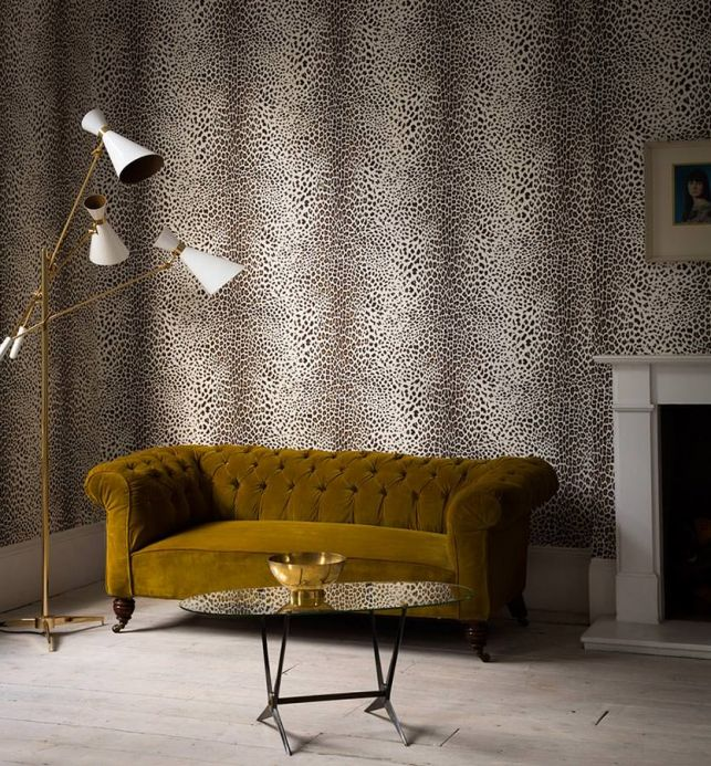 Archiv Wallpaper White Leopard sepia brown Room View