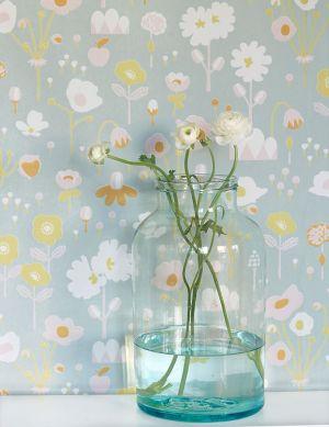 Papel pintado Bloom gris Ver habitación