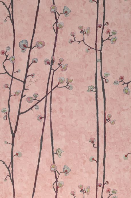 Botanical Wallpaper Wallpaper VanGogh Branches pale rosewood Roll Width
