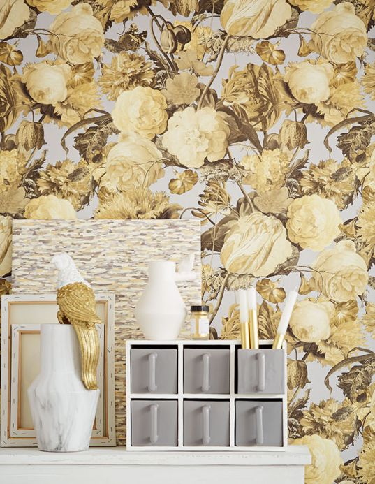 Wallpaper Wallpaper Doriana pale yellow Room View