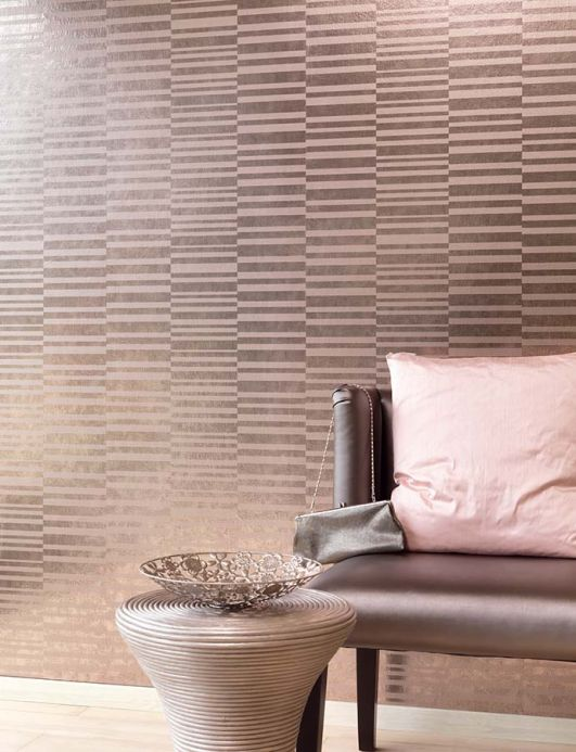 Metallic Wallpaper Wallpaper Mandarava light brown metallic Room View