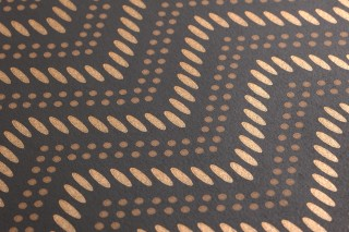 Wallpaper Chani Shimmering pattern Matt base surface Zigzag Grey brown Brown beige Pearl gold