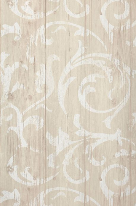 Archiv Papel de parede Medusa Wood cinza bege pálido Largura do rolo