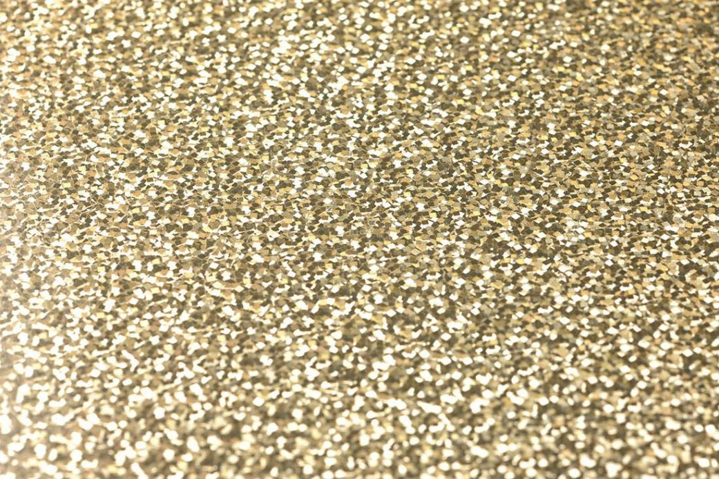 Papier peint métallique Papier peint Lexa doré lustre Vue détail