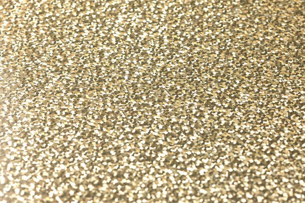 Carta da parati metallica Carta da parati Lexa oro lucido Visuale dettaglio