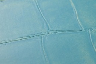 Wallpaper Croco 03 Matt Imitation leather Turquoise blue