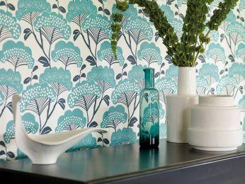 Wallpaper Zwegi turquoise