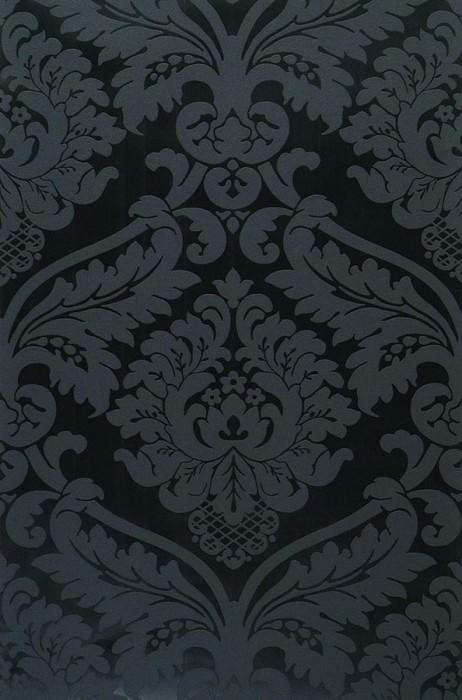 Rajah noir brillant noir papier peint baroque - Papiers peints des annees 70 ...