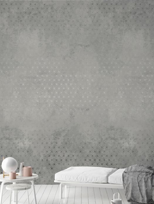 Archiv Wall mural Nuka grey tones Room View