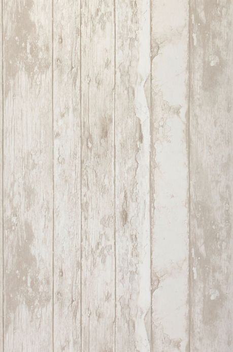 Archiv Wallpaper Wood Effect pale grey beige Roll Width