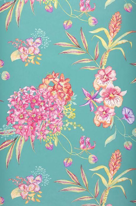 Archiv Wallpaper Fenja turquoise blue Roll Width