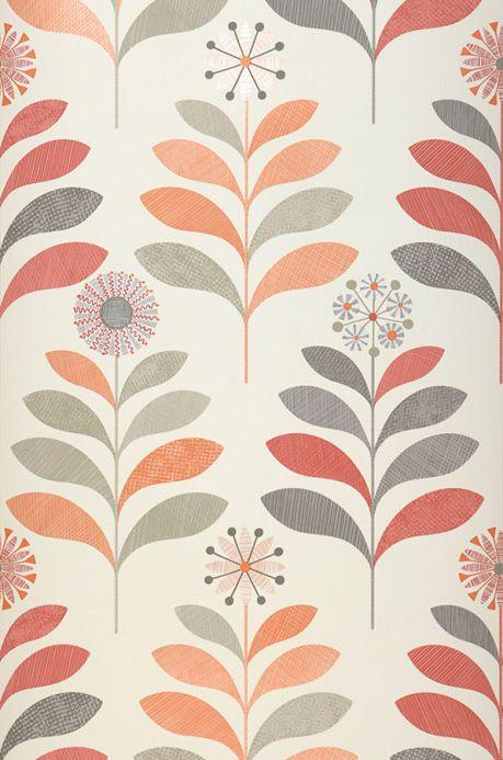Archiv Papel de parede Tessa laranja brilhante Largura do rolo