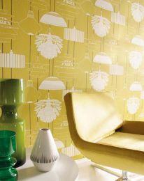 Papel pintado Sobek amarillo miel