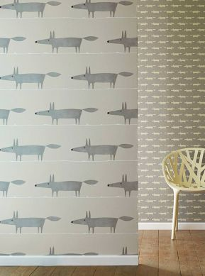 Wallpaper What does the Fox say grey Room View