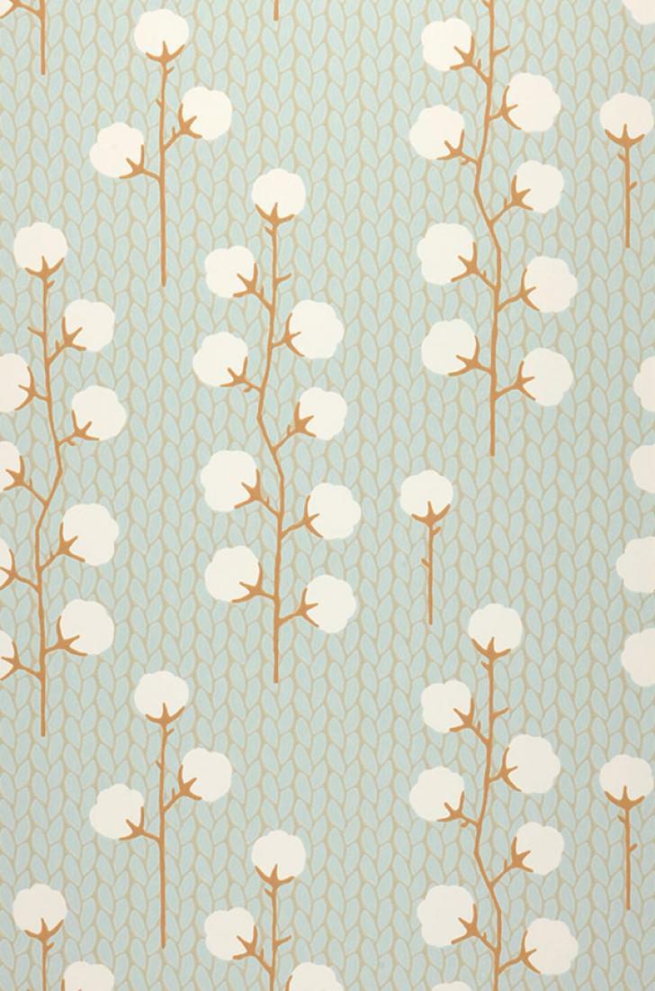 Sweet cotton turquoise pastel clair brun gris p le blanc cr me brun ocre - Tapisserie gris clair ...