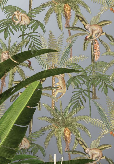 New arrivals! Wallpaper Greenery silver shimmer Room View