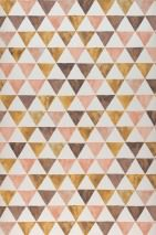 Wallpaper Masell Matt Triangles Cream Beige red Brown Brown beige