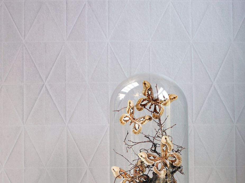 Archiv Wallpaper Origami light beige grey Room View