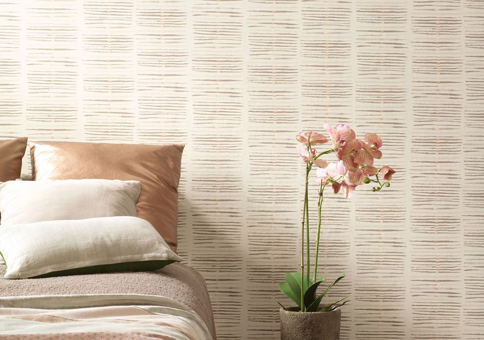 Wallpaper Wallpaper Tallec grey beige Room View